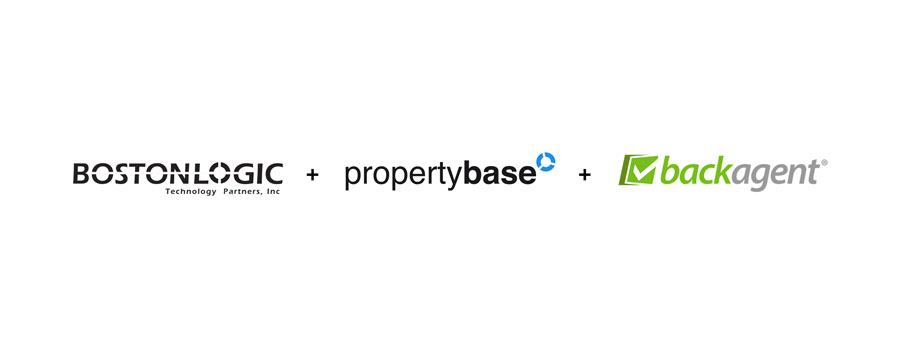 Propertybase combined brands logo with Boston Logic and BackAgent