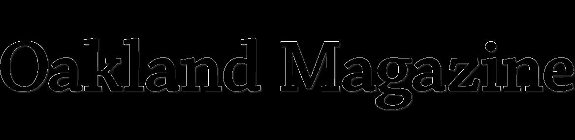 Oakland Magazine logo in black