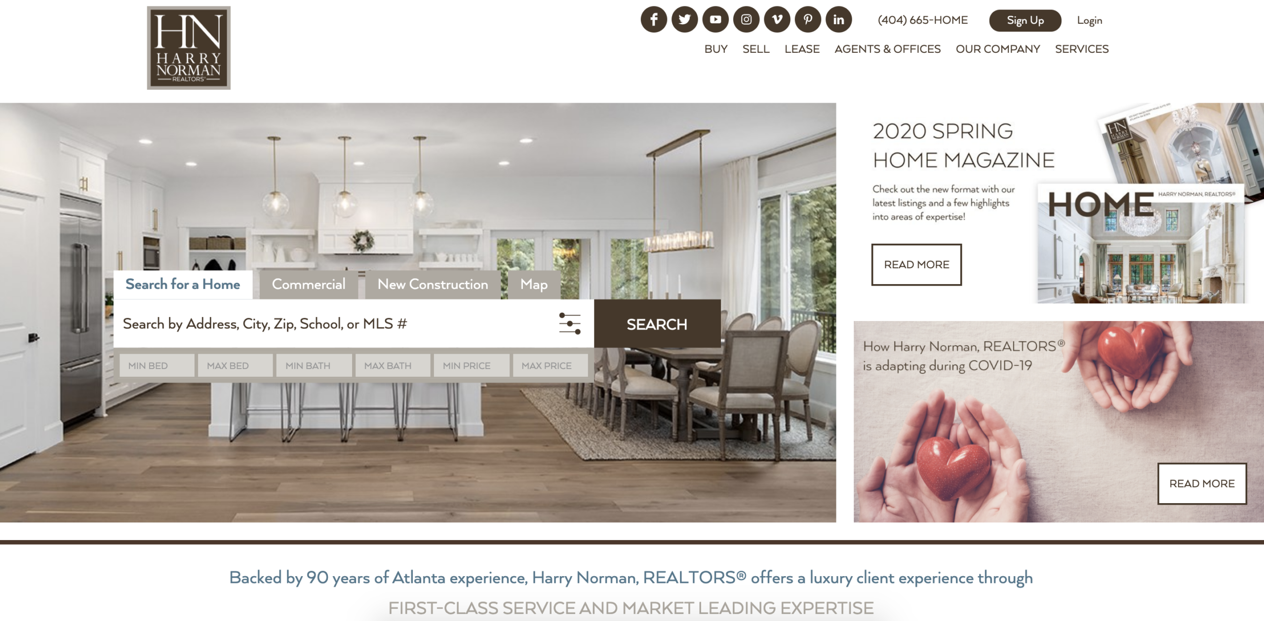 Harry Norman, Realtors website