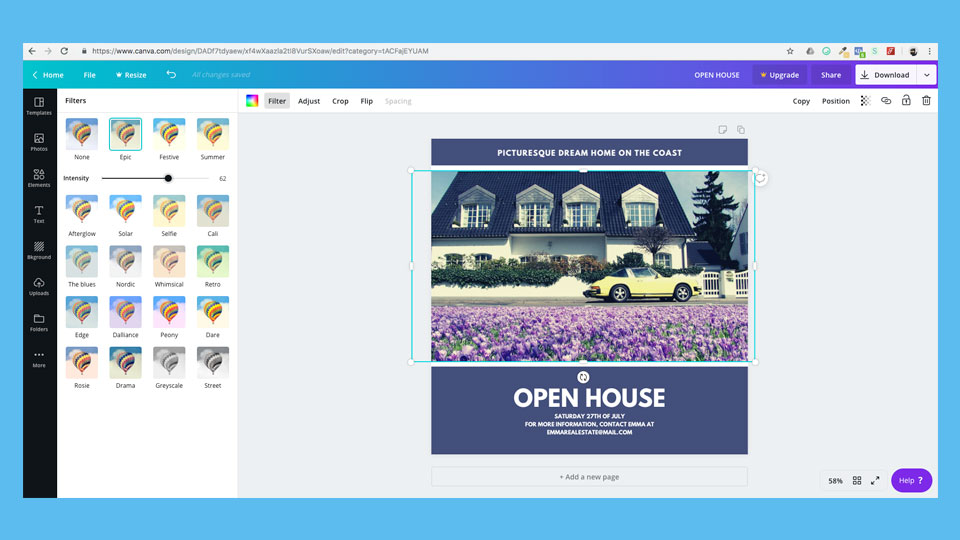 Canva software screenshot