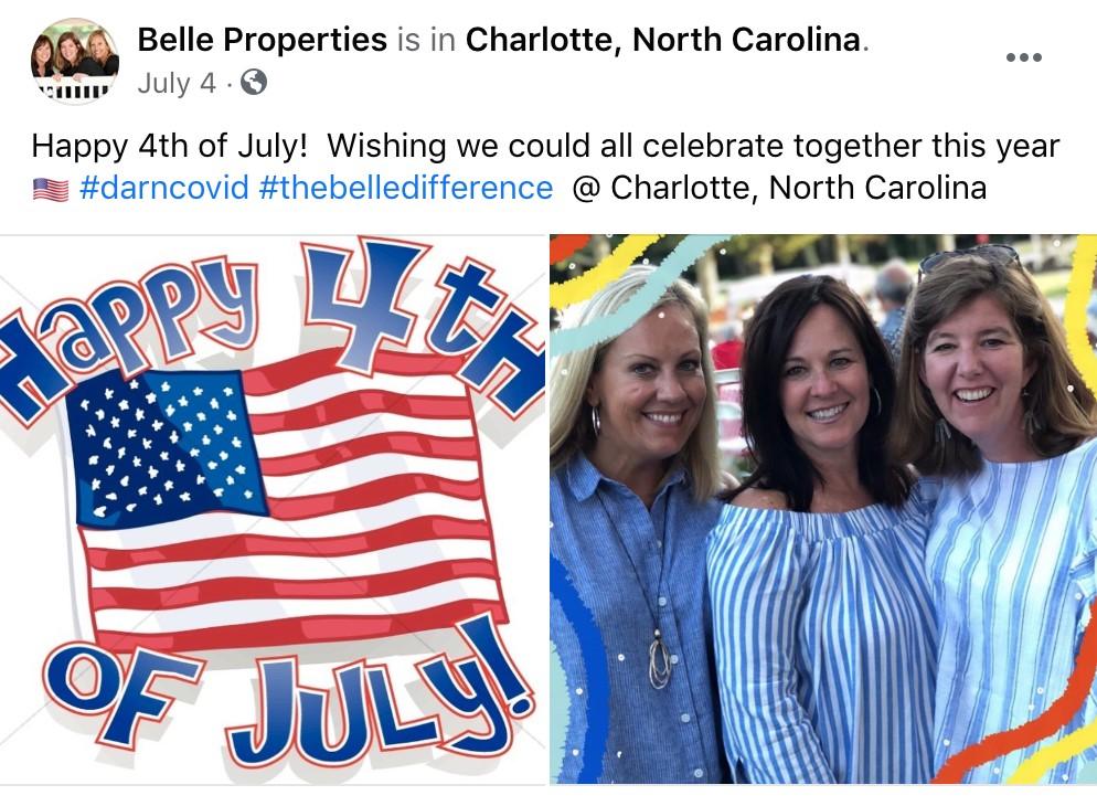 Belle properties Facebook Post Example