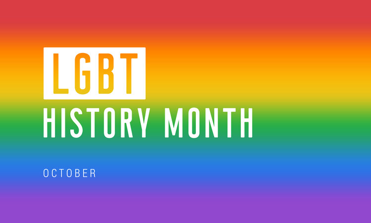 LGBT history month - october rainbow flag