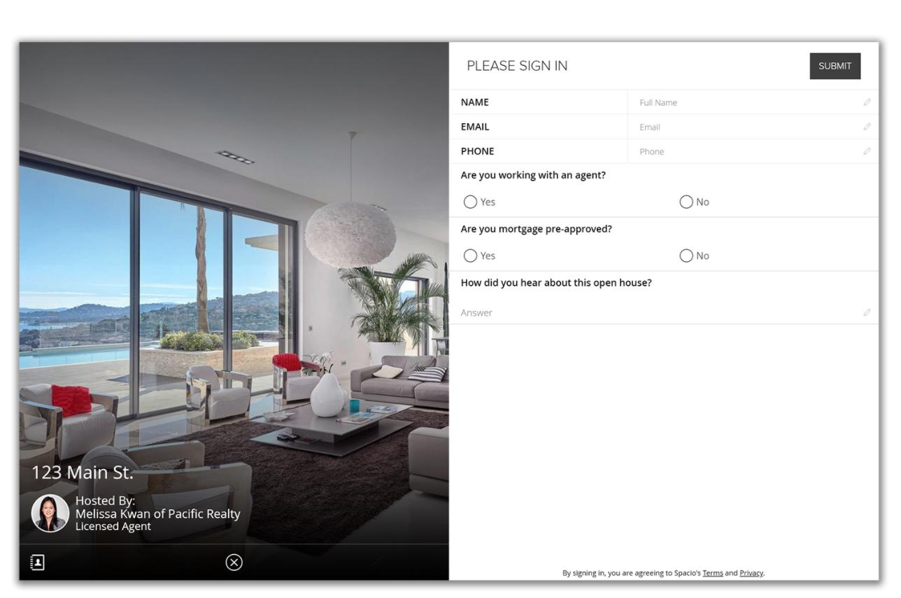 spacio open house software