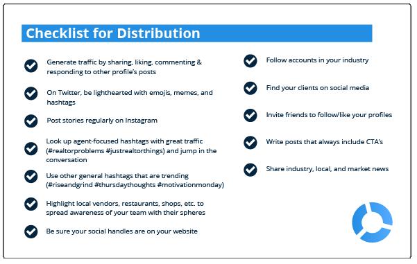 checklist for distribution on social media
