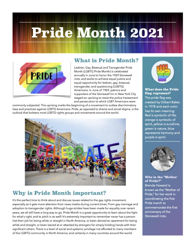 LGBTQ+ Pride Month Flyer